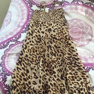 Leopard Dress w/ Adjustable Straps - Forever21
